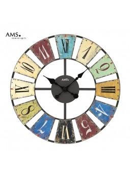 Pendule Métal découpé - AMS - Chiffres imprimés