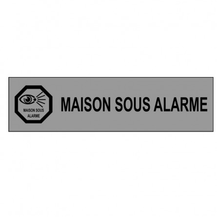 plaque maison sous alarme avie home. Black Bedroom Furniture Sets. Home Design Ideas