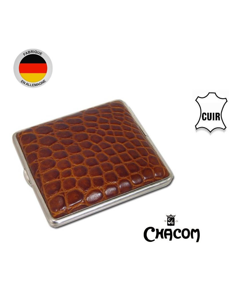Cig-R Etui /à cigares en cuir brun pour 3 cigares