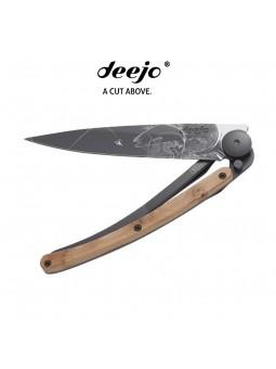 Couteau DEEJO BLACK TATTOO genévrier - Truite