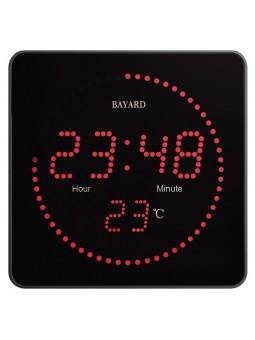 Pendule murale secteur à diodes - BAYARD - Radio-pilotée