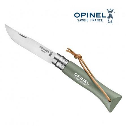 OPINEL N°6 vert sauge - Lien baroudeur