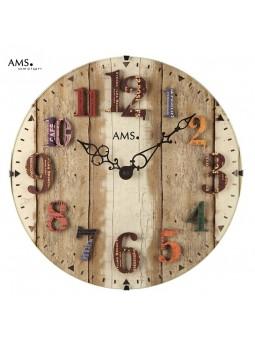 Pendule Chiffres en relief - AMS - Diamètre 30 cm