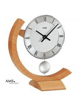 Pendulette AMS à balancier - Bois massif - Cadran métal