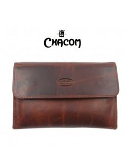 Blague roulante CHACOM - Cuir brun rétro
