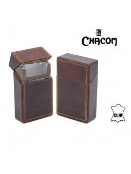 Etui cigarettes - CHACOM - Brun rétro