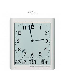 Pendule Radio-pilotée - AMS - Jour Date Température