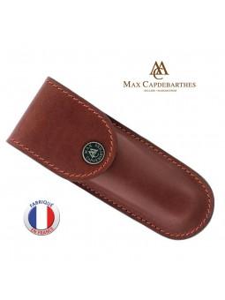 Etui couteau Randonneur 13 cm - Max CAPDEBARTHES - Cuir Pérou fauve