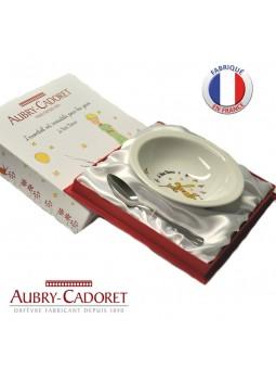 Assiette porcelaine et Cuillère acier  - Petit Prince - Aubry Cadoret