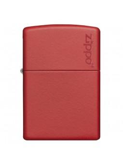 Briquet Red Matte - Logo Zippo