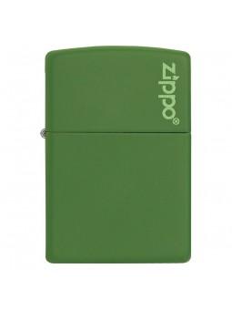 Briquet Zippo Logo Moss Green Matte