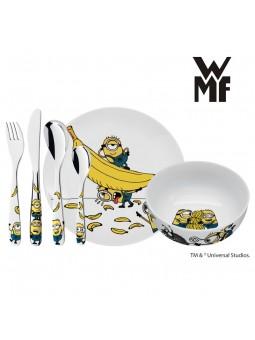 Couverts enfant LES MINIONS - WMF - Assiette et bol en porcelaine