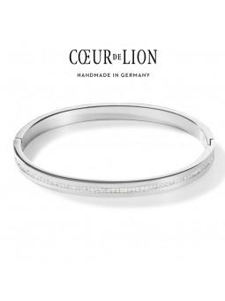 Bracelet rigide Acier et Cristaux - Coeur de Lion