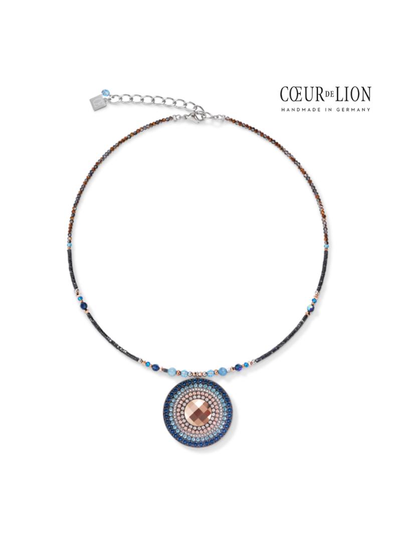 Collier Amulette small Cristaux Swarovski® & amazonite montana