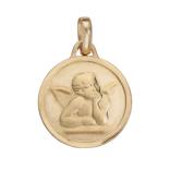 Médaille Ange en or, argent ou plaqué or que vous pouvez personnaliser par un prénom gravé